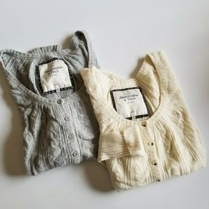 Set of 2 Abercrombie & Fitch Rabbit Hair Cardigans